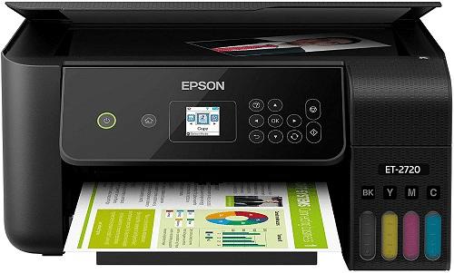 Epson EcoTank ET-2720 Wireless Color All-in-One Best Value Sublimation Printer- Supertank Printer